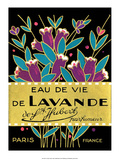 Vintage Art Deco Label  Eau de Vie de Lavande
