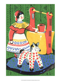 Vintage Russian Matchbox Label  Folk Toys