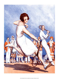 Retro Tennis Poster  Woman Player  1920s