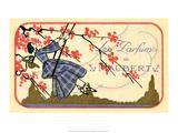 Vintage Art Deco Label  Les Parfums de Maubert
