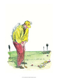 Retro Poster  Playing Golf