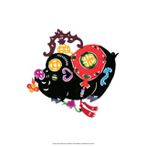 Chinese Paper Cut  Black Pig
