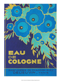 Vintage Art Deco Label  Eau de Cologne du Chardon Bleu