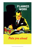 Vintage Business Planned Work Puts You Ahead