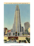 Vintage New York Postcard -RCA Building Rockefeller Centre