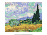 Wheatfield with Cypress  1889