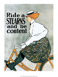Vintage Bicycle Poster  Stearns