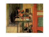 Lisbeth Reading, 1904 Reproduction d'art par Carl Larsson