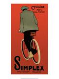 Vintage Bicycle Poster  Simplex  Amsterdam
