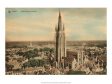 Vintage Postcard  Notre-Dame Church in Bruges