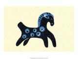Vintage Russian Matchbox Label  Folk Toy Horse