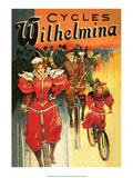 Vintage Bicycle Poster  Wilhelmina