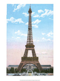 Vintage Paris Postcard - Eiffel Tower