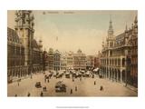 Vintage Postcard  Grand Place  Brussels