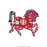 Chinese Paper Cut  Zodiac Horse