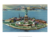 Vintage New York Postcard - Statue of Liberty