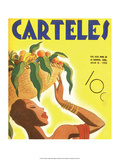 Carteles  Retro Cuban Magazine  Fruit Basket