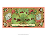 Vintage Art Deco Label  Savon Trefle Vaissier