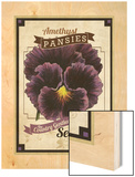 Vintage Pansies Seed Packet