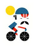 Moustached Cyclist