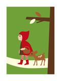 Le petit chaperon rouge Reproduction d'art par Dicky Bird