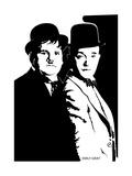 Laurel et Hardy Giclée par Emily Gray