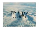 Fly Away Clouds Reproduction d'art par Leah Flores