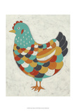 Country Chickens II Reproduction d'art par Chariklia Zarris