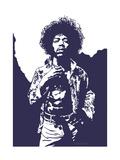 Jimi Hendrix - Purple Haze Reproduction d'art par Emily Gray