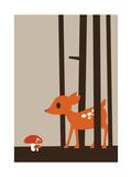 Little Deer Reproduction d'art par Dicky Bird