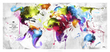 Abstract Map - World Giclée