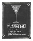 Chalkboard Cocktails II Reproduction d'art par Grace Popp