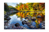 Colorful Trees Along the Swift River New Hampshire