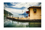 Pier and a Small House  Riva Del Garda  Italy