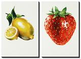 Lemon Strawberry Tableau multi toiles par Sydney Edmunds