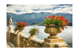 Balustrade With Lake View  Como  Italy