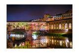 Ponte Vecchio at Night  Florence  Italy