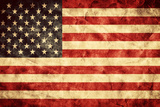 USA Grunge Flag. Vintage, Retro Style. High Resolution, Hd Quality. Item from My Grunge Flags Colle Papier Photo par PHOTOCREO Michal Bednarek