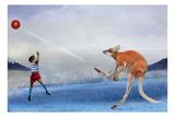 Kangaroo Kickball Reproduction d'art par Nancy Tillman