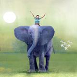 Elephant Ride Reproduction d'art par Nancy Tillman