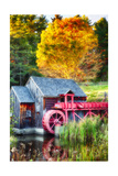 Little Red Grist Mill In Vermont
