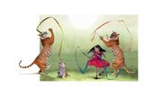 Ribbon Dance Reproduction d'art par Nancy Tillman
