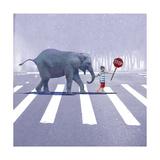 Elephant Crossing Reproduction d'art par Nancy Tillman