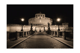 Quiet Night at Castle Sant Angelo  Rome  Italy