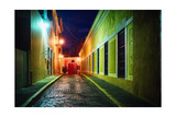 Night Street Scenic In Old San Juan