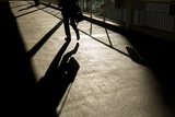 Shadow of Office Worker in Central District  Hong Kong  China
