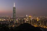 City Skyline at Dusk  Taipei  Taiwan