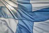 Close-Up of Finnish Flag