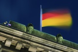 German Flag Flying from the Reichstag