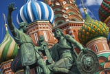 The Monument to Minin and Pozharsky in Front of St Basil's Cathedral in Red Square